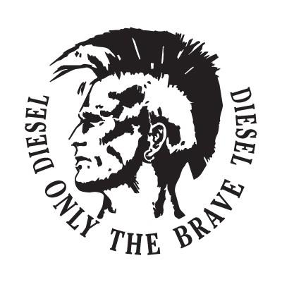 diesel only the brave logo vector freevectorlogo net