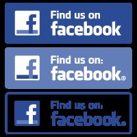 Find us on Facebook vector