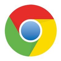 Google Chrome logo vector