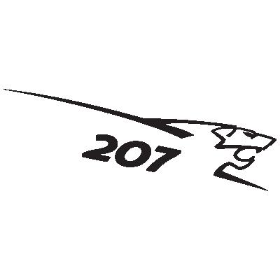 Peugeot 207 Lion logo vector