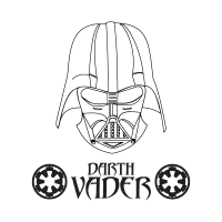 Darth Vader logo vector