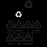 Recycling symbols vector