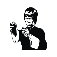 Bruce Lee logo vector