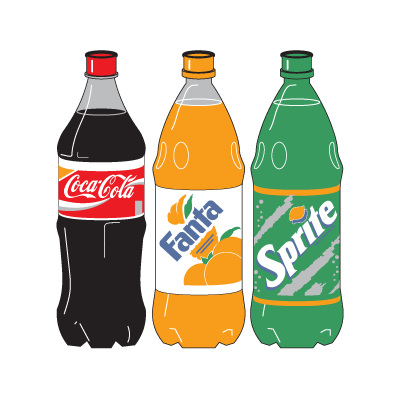 Coca-Cola Three Bottle logo vector
