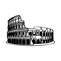Colosseo roma logo vector