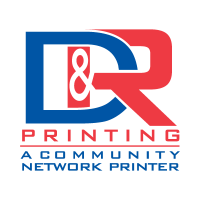 D and R Printing logo vector