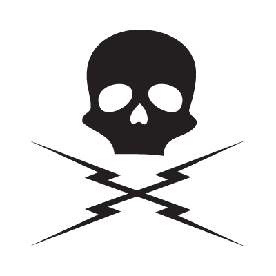 death proof skull logo vector (.eps, .ai, .cdr, .pdf, .svg) free
