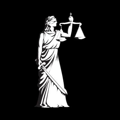 Deusa Themis logo vector
