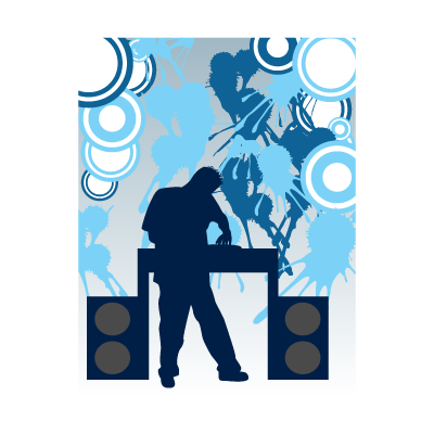 Disc jockey logo vector