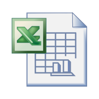 Excel office logo vector