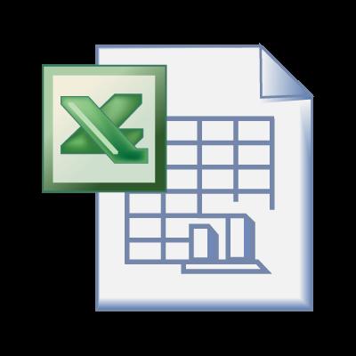 Excel office logo vector