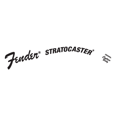 fender stratocaster logo vector (.eps, .ai, .cdr, .pdf, .svg) free