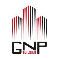 GNP building logo vector