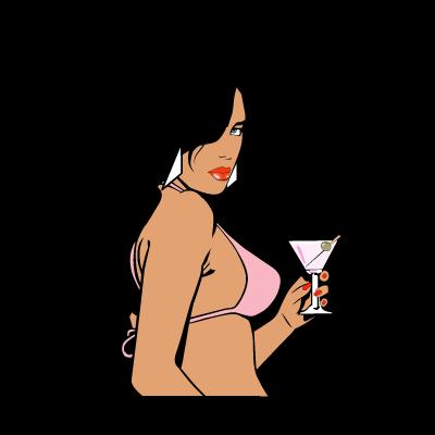 GTA Vice City Woman logo vector