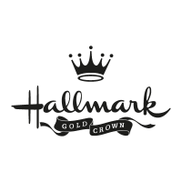Hallmark gold crown vector logo
