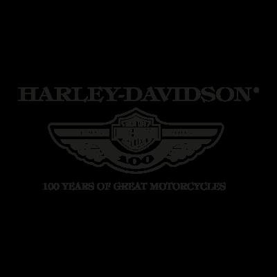 Harley Davidson 100 years vector logo
