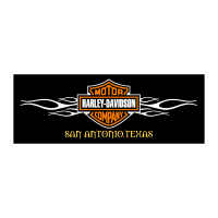 Harley-Davidson with Flames vector logo
