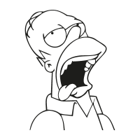 Homero Homer Cerveza Beer vector logo