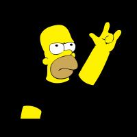 Homero metalero vector logo