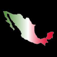 Mapa de Mexico vector logo