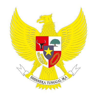 National emblem of Indonesia vector logo