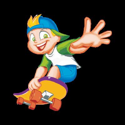 Menino No Skate vector logo