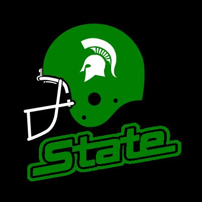 Michigan State Spartans Helmet vector logo