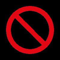 Prohibido fumar vector logo