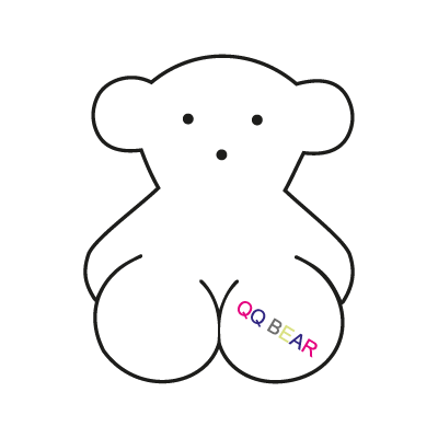 Qq bear vector logo