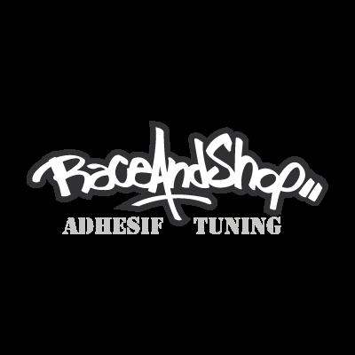 Race and shop vector logo