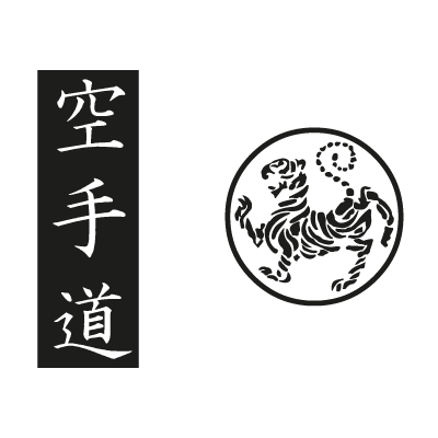 Shotokan tiger - karate do kanji vector logo