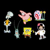 Spongebob Squarepants cartoon vector logo