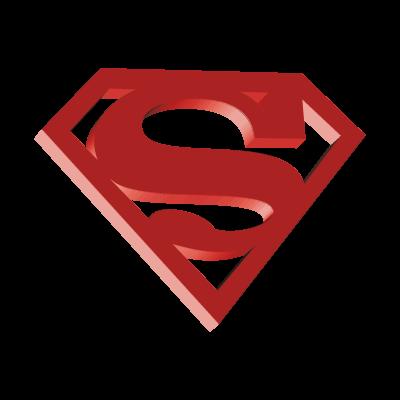 Superman 3D vector logo