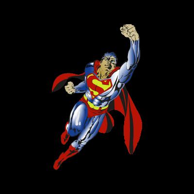 Superman flying vector logo