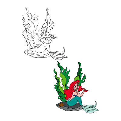 The little mermaid - Ariel vector logo