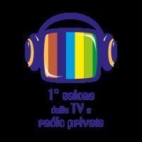 1 salone delle TV e radio private vector logo