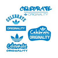 Adidas celebrate originality vector logo