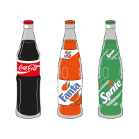 Coca-Cola 3 Products vector logo
